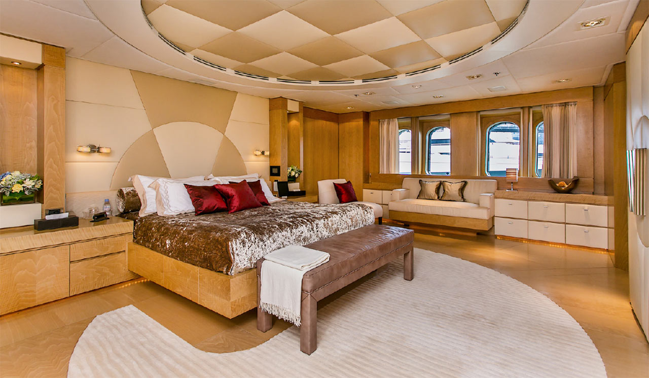 Main room in a super yacht